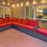 Patio Sectional ( Red / Dark Brown)