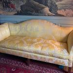Beautiful Chippendale Camelback Sofa