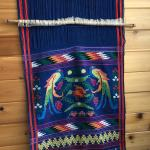 HAND LOOMED SOUTH AMERICAN TEXTILE BRILLIANT COLORS
