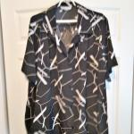 Black & White Print Blouse - 3x