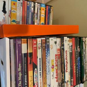 Photo of CD's. DVD's, Vinyl Albums and VHS Tapes