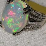AAAA opal ring and diamonds