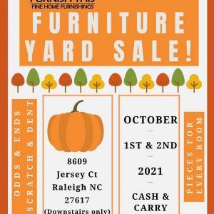 Photo of Furnish This Furniture Yard Sale!
