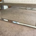 "Lot 242 Wall Mirror Silver Gilt Frame 24"" x 60"""