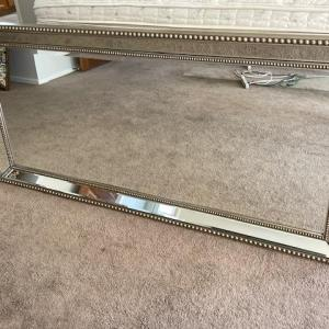 """Photo of Lot 242 Wall Mirror Silver Gilt Frame 24"""" x 60"""""""