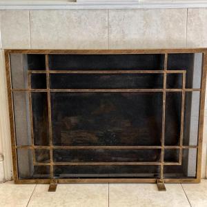 Photo of Lot 244 Modern Art Deco Fireplace Screen Free Standing