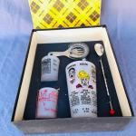 Lot 233cl New In Box Mr Fivesome Cocktail Mixing Set Glasses Strainer Stir Spoon