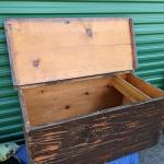Handcrafted Primitive Vintage Wood Chest