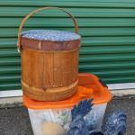 Lot of Firkin and Blue Speckled Rooster