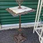 Vintage Marble top Cigar Floor Stand