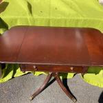 "Imperial Mahogany Drop-leaf Regency Style ""Pembroke"" Side Work Table"