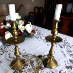 Pair of Brass Candle Lamps