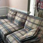 Clayton Marcus Plaid Sofa