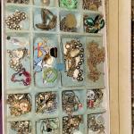 GARAGE SALE-100s of pcs-COSTUME JEWELRY ESTATE-Artwork-Flatware-Bags (bayside