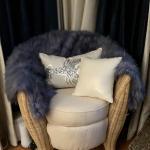 Ikea Wicker Ivory Cushioned Chair