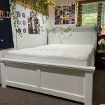 Queen White Panel Bed