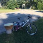 Bike- lampshades- child sand chair