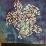 Turtle canvas art