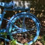 """""""Outdoor"""" Painted Repurposed Bicycle Planter (Yard Art) Basket of Purslane Inclu"""