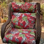 """Outdoor"" 4 Hampton Bay Chair Cushions"