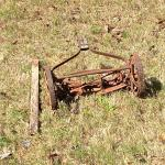 """""""Outdoor"""" Rusty Antique Lawn Mower (Yard Art) * See Details"""