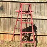 """Outdoor"" Red Wood Ladder (Yard Art)"