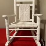 Child's Cracker Barrel Original rocking chair WHITE