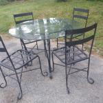 Iron table with chairs