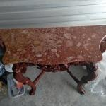 marble carved entry table