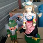Nutcrackers and girl wooden figures