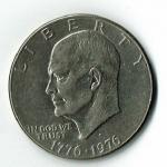 1776-1976 (D) Eisenhower Bi-Centennial Silver Dollar