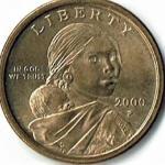 2000-P Sacagawea Gold Dollar
