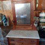 Eastlake marble top dresser