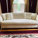 LIKE NEW! Custom Built Silk Couch w/ Gold Thread
