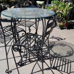 Bistro Iron table with 4 chairs