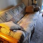 Futon couch and Chair