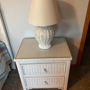 Photo of White wicker bedroom set