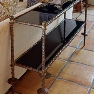 Photo of Metal and glass sofa table