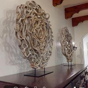 Photo of Twisting vine art pieces