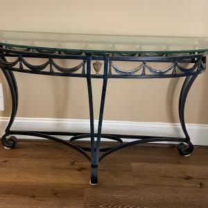 Photo of Iron & Glass Sofa & Coffee tables