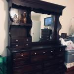 Solid Wood Pine Queen (or Full) Bedroom Set