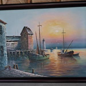 Photo of Max Savy Vintage Canvas Oil Paintings