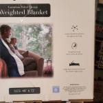 Je T'adore 20lb.velvet sherpa weighted blanket navy blue  48 x 72 asking $80 obo