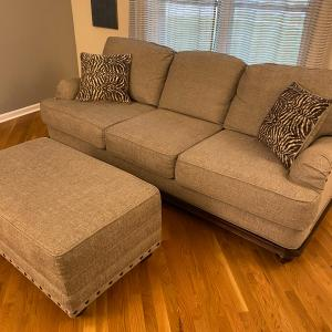 Photo of Soft wheat colored sofa/couch