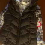 Mudd Girls 7/8 Puffy Vest and flannel button down blouse