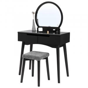 Photo of Chic Black Vanity Set (listed on Wayfair.com for $155)