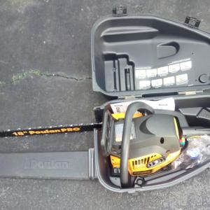 """Photo of Poulan 18"""" Pro chain saw, little used, model PP4218AVX, 42cc with case"""