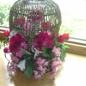 Photo of Floral Birdcage Hanging Decoration