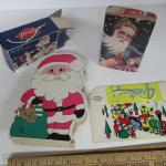 3 Old, 1 Modern Christmas Candy Boxes