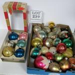 Vintage Glass Christmas Ornament Lot